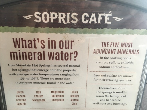 Sopris Cafe Menu & Minerals