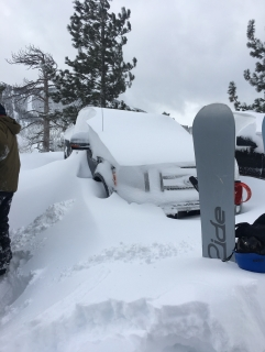 Little Blue Truck Disappears under 3 Feet of Snow