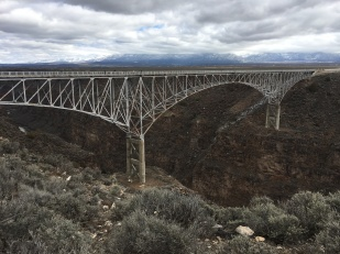 Bridge spanning the Rio Grande. If you look really hard you can see the river.