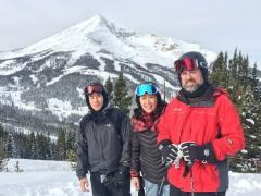 Big Sky, Lone Mountain, Andy, me, Steve