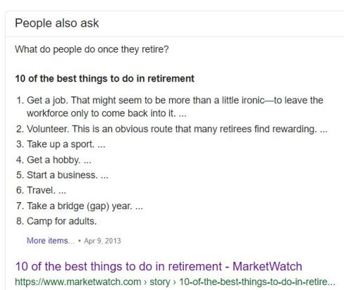 Top 10 things to do in retirement