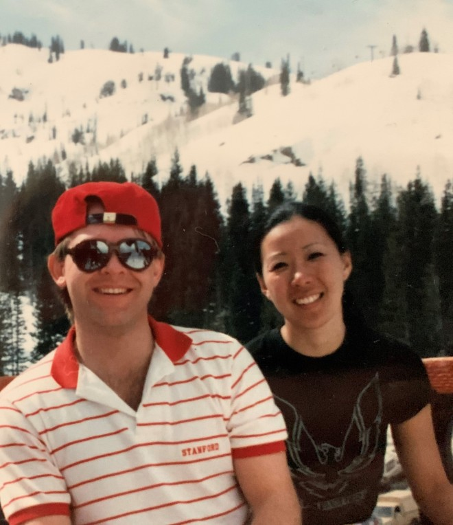 Elaine & Scot, Brighton UT 1986